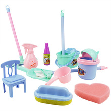 Cleaning-Set Simulation Kids Broom Toys Play-House 3-Years-Old Mop-Ware Over Baby-Boys-Girls