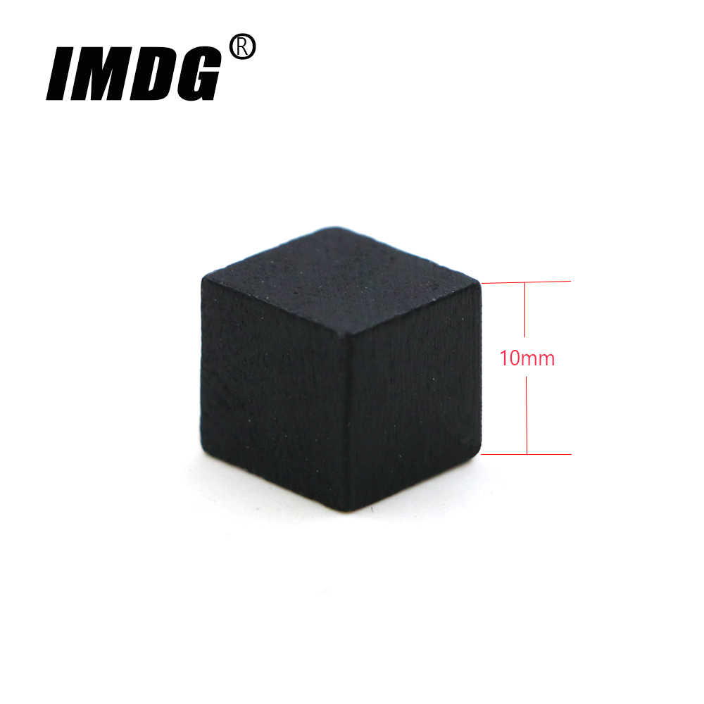 100 Pcs/set Kayu Kubus Blok Kosong DICE 2019 Perdagangan Luar Negeri Produk Baru 10 Mm Square Corner Warna Permainan Papan Dadu pendidikan Awal