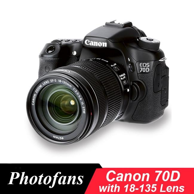 Canon 70D DSLR камера с комплектом объективов canon 18-135 мм STM