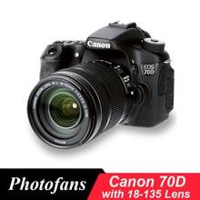 Appareil photo Canon 70D DSLR, avec objectif STM de 18 à 135mm