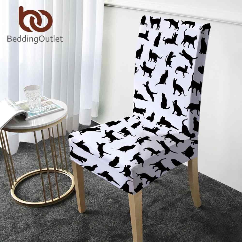 "BeddingOutlet חמוד חתול כיסוי כיסא קריקטורה כיסא אוכל מכסה עבור בעלי החיים מאהב ספנדקס יו""ר עטיפות בית תפאורה Housse נוח"