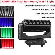 7X40W Beam Wash Zoom 3IN1 Moving Head Light DMX 512 Professional DJ /Bar /Party /Show /Stage Control Dj