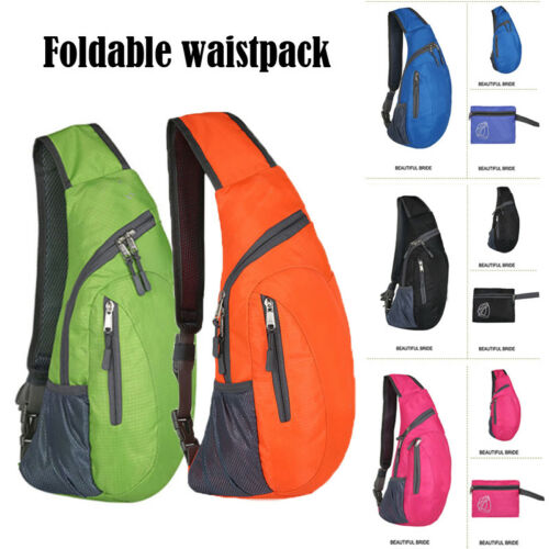 Men Chest Sling Packs Shoulder Cross Body Bag Outdoor Sport Travel Backpack