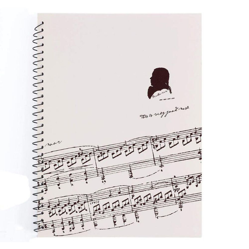Hot 50 Pages Mozart Musical Sheet Manuscript Paper Staff Paper  Musicians Notebook Stave Notation Notebook Spiral Bound