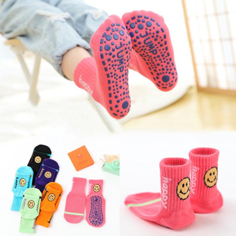 Хлопковые нескользящие носки для малышей, 6 цветов, зимние детские носки для прогулок, обувь для малышей, повседневные нескользящие носки дл...