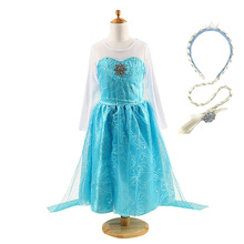 Girls Elsa Princess Dresses Kids Summer Cristal Costume with Cape Children Snow Queen Elza Halloween  Party Cosplay Dress muababy girl anna dress up clothes with cape children long sleeve floral applique snow queen cosplay costume for halloween party