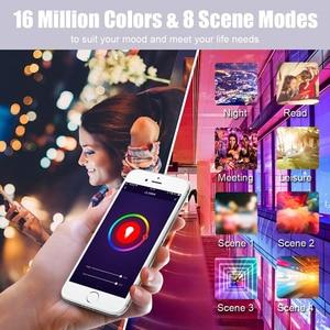 15W WiFi смарт лампы B22 E27 LED RGB светильник лампы работать Alexa Google Home с цветовой моделью RGB + диммируемая на пульте управления Управление Colore светильник волшебный шарик Светодиодные лампы и трубки      АлиЭкспресс