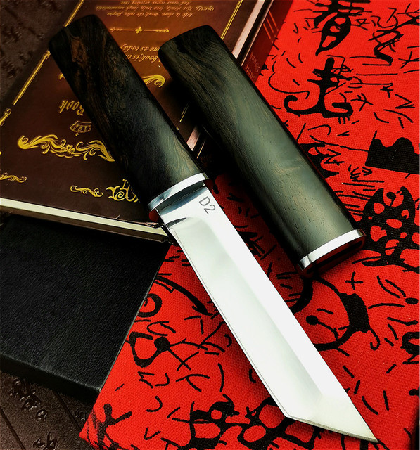 PEGASI  Thickened mirror sharp samurai sword high quality outdoor hunting straight tactical knife collection gift knife 4