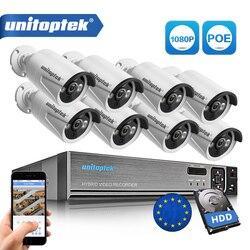 8CH prawdziwe 48V POE NVR zestaw System CCTV z 8 sztuk 2.0MP  że POE kamera IP na zewnątrz IR kamera monitoringu z noktowizorem systemu dostępu metalu przypadku