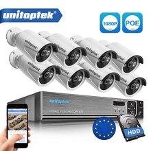 8CH prawdziwe 48V POE NVR zestaw System CCTV z 8 sztuk 2.0MP, że POE kamera IP na zewnątrz IR kamera monitoringu z noktowizorem systemu dostępu metalu przypadku