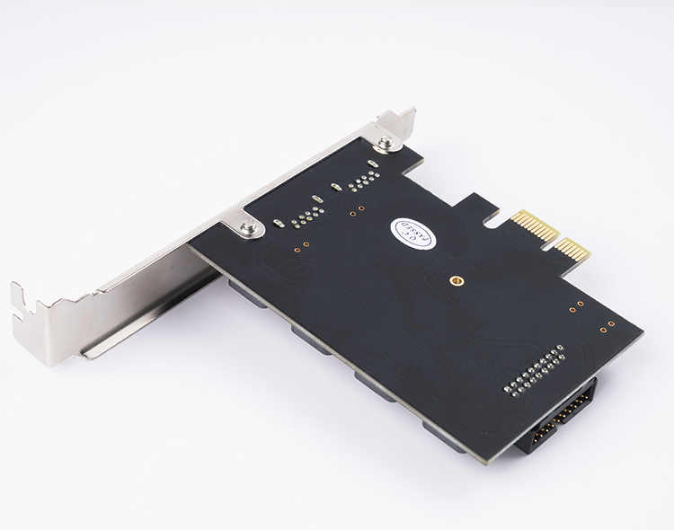 ORICO 2 порта USB 3,0 PCI-E экспресс-карта PCIE к USB3.0 хаб 19pin фронтальная Расширительная карта 5 Гбит/с супер высокоскоростной адаптер