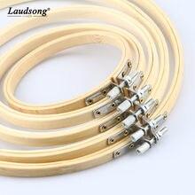 1 pçs 10/12/15/18/20/23/26/30/34 cm anel redondo material de bambu para diy costura ferramentas de fixação artesanal ponto cruz ferramenta auxiliar