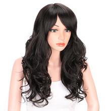 Aisi hair 24 дюйма натуральные волнистые волосы парик с челкой
