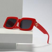 Nouveau Vintage lunettes De Soleil femmes marque concepteur rétro lunettes De mode Rectangle lunettes De Soleil Oculos Lunette De Soleil Femm 8215
