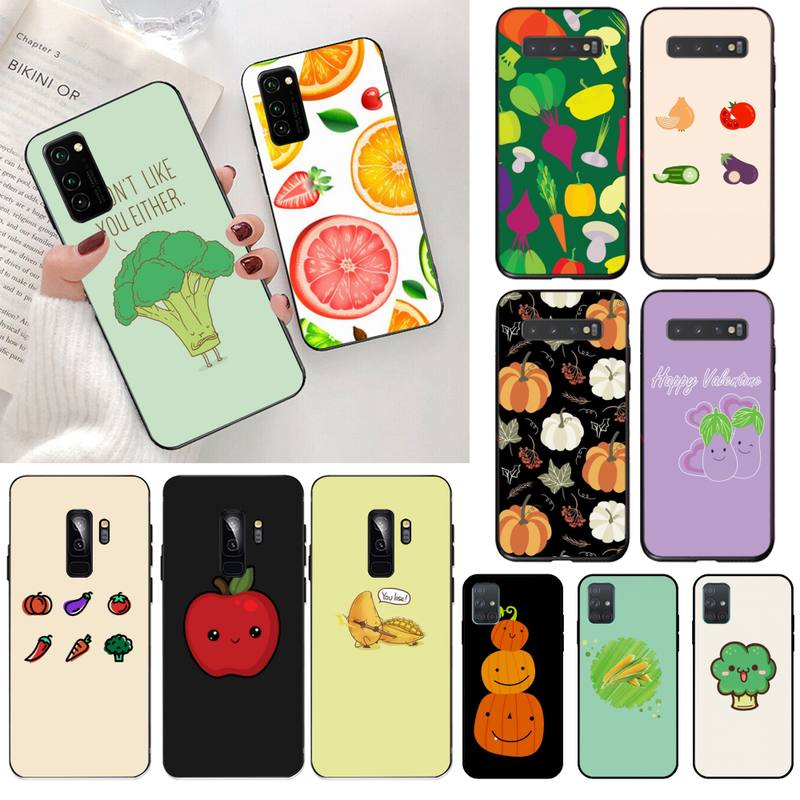 Vegetables Broccoli Pumpkin tomato eggplant Phone Case for Samsung S20 plus Ultra S6 S7 edge S8 S9 plus S10 5G lite 2020