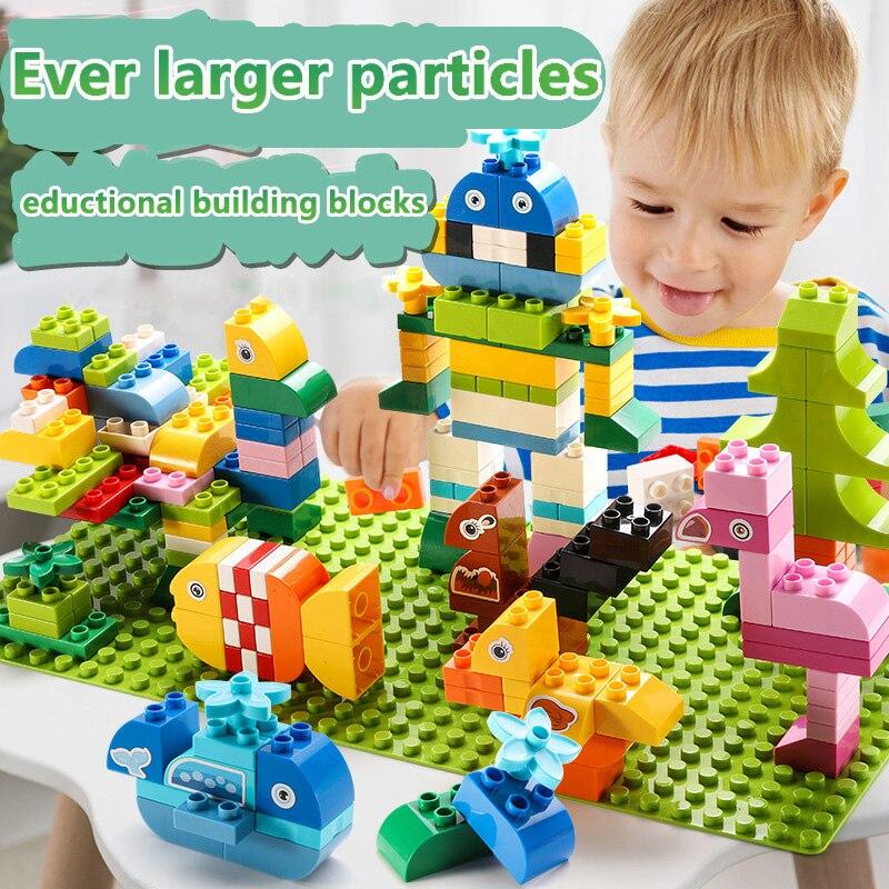 100PCS Big Size Animal Building Blocks DIY Creative Bricks Bulk Dinosaur Robot Model Figures Educational Toys For Children Gift in Blocks from Toys Hobbies