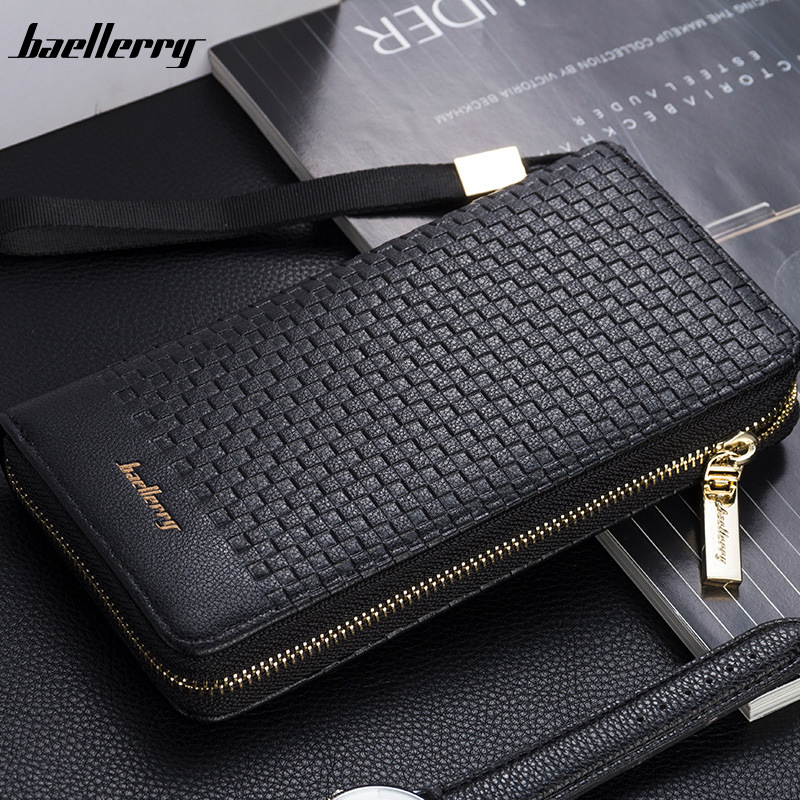 Luxury Brand Men Purse Clutch Bag Male Long Wallets Casual Zipper Coin Purses Big Capacity Men's Wallet MWS199