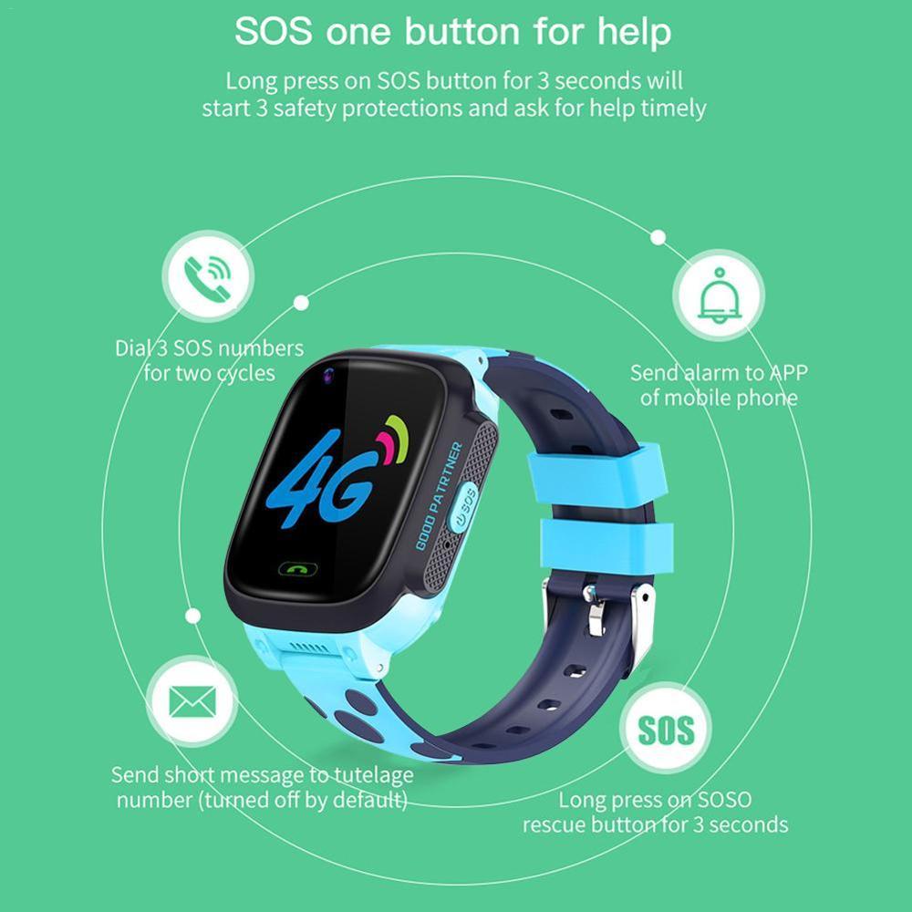 Y95 4G enfant montre intelligente téléphone GPS enfants montre intelligente étanche Wifi anti-perte SIM localisation Tracker Smartwatch HD appel vidéo - 2