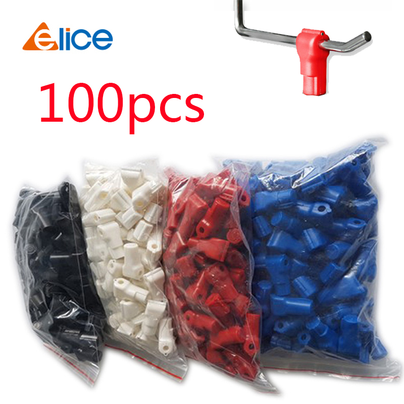 100pcs/lot Anti-theft Stop EAS Lock For Store Display Security Hook Stem&peg Stoplock Plastic Lock 6mm Hole Diameter Hook Lock