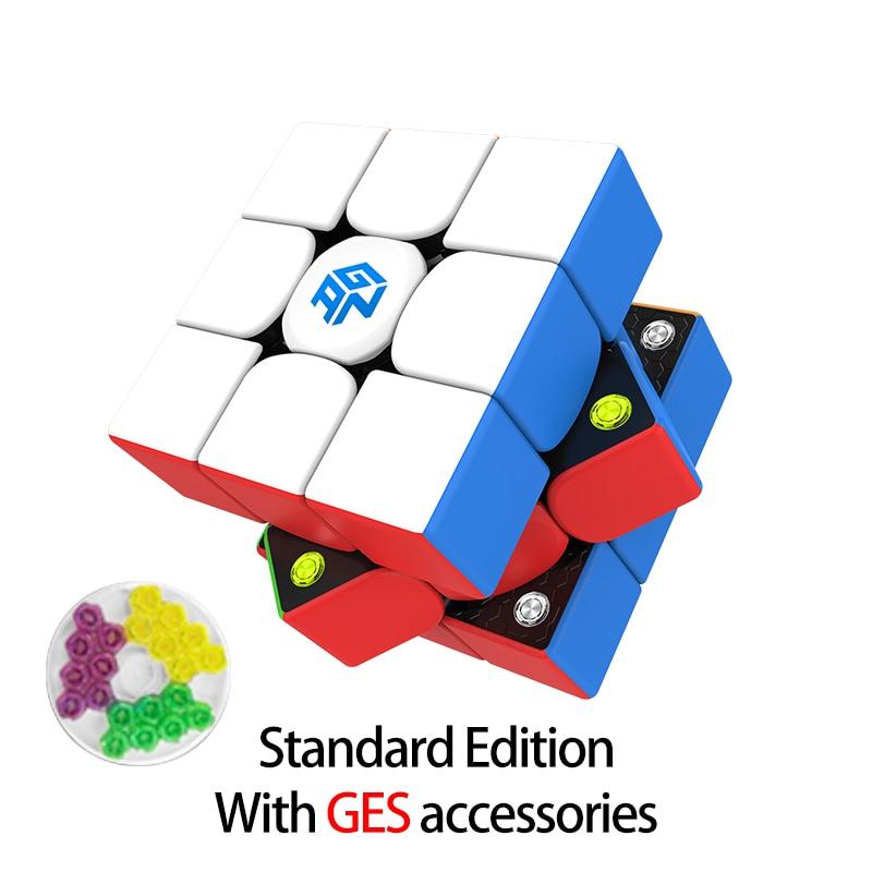 Newest GAN356 M 3x3x3 Magnetic magic Cube stickerless 3x3 Speed Cube GAN 356 Professional Puzzle Gan Cube Educational Toys 7