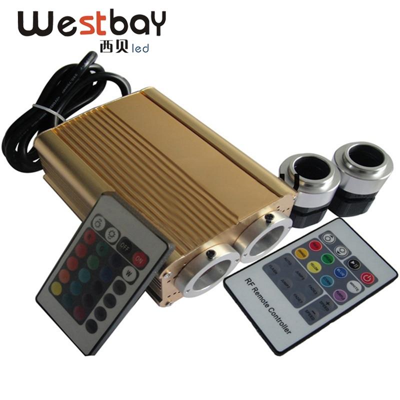 32W IR eller RF Controller Två portar Led Light Engine för Led Optic Fiber Light Diy Fiber Lighting Solution