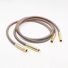 Pair Hi End RCA Cable Accuphase 40th Anniversary Edition RCA Interconnect HiFi Audio Cable with Gold Plated Plug