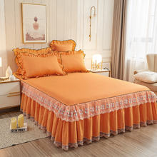 3 шт Высококачественная кровать с рюшами роскошная юбка на плоской
