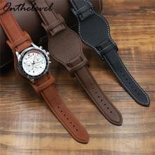 Echtes Leder Armband 18 20 22mm Armband Mit Matte Schwarz Braun Kaffee Leder Armband Armbanduhr Band