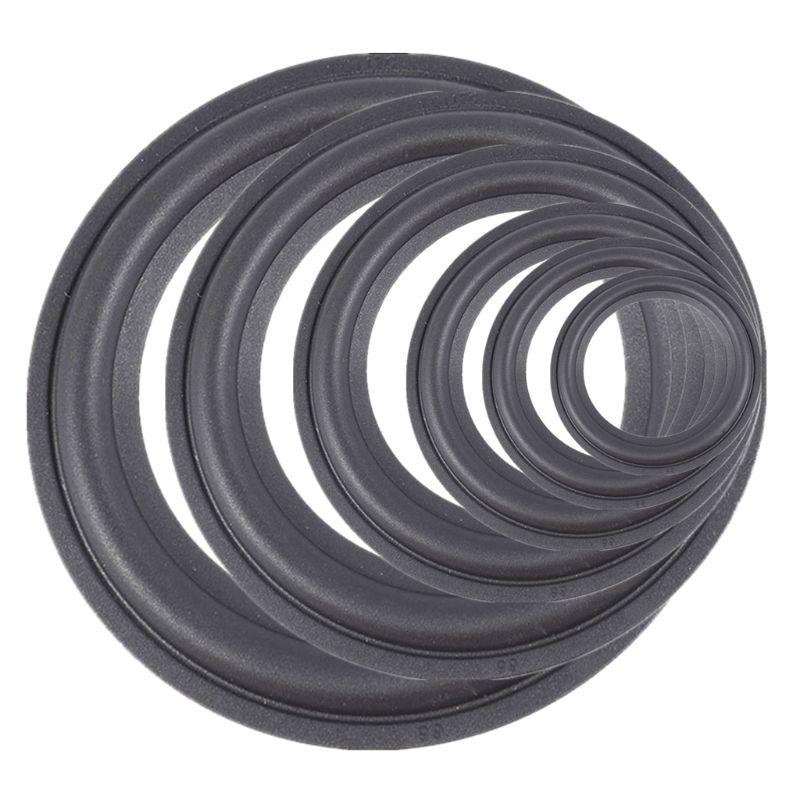 2 PCS 4-5-6.5-8-10-12 Elastic Rubber Ring Speaker Surround Repair Foam Woofer Edge