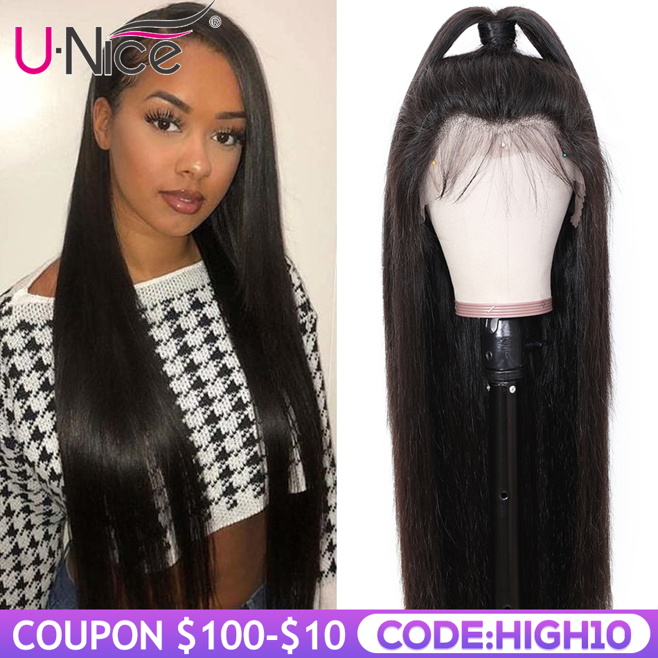 Unice Hair Wig 13*4/6 Brazilian Straight Lace Front Human Hair Wig With Baby Hair Remy Human Hair Wigs For Black Women Deep Part