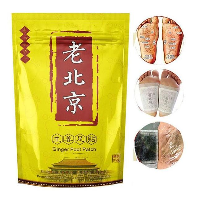 10pcs/box Body Detox Foot Patch Relax Chinese Ginger Herbal Adhesive Pads Wormwood Anti-swelling Foot Mask Detox Foot Stickers 2