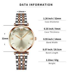 Image 5 - CIVO 2020 moda luksusowe zegarki damskie Top marka stal z różowego złota pasek wodoodporny Zegarek Damski Zegarek Damski