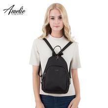 Mochila AMELIE GALANTI Vintage Nylon mujer mochila mini viaje mochila simple y doble hombro conversiono