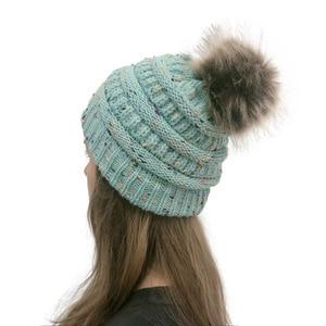 Image 5 - 女性の冬ウォームビーニー帽子とかわいいフェイクファーポンポンボールニットキャップ Skullies 屋外カジュアルスキーキャップ