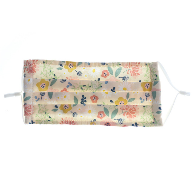 Small Floral Reusable and Washable Masks Fashion Printed Cotton Masks Dust-proof Breathable Men And Women Male And Female Daily 2