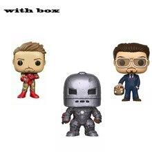 Железный человек 338 #225 #529 #580 # фотография с коробкой виниловые поп экшн-фигурки и игрушки Коллекционная модель игрушка для детей