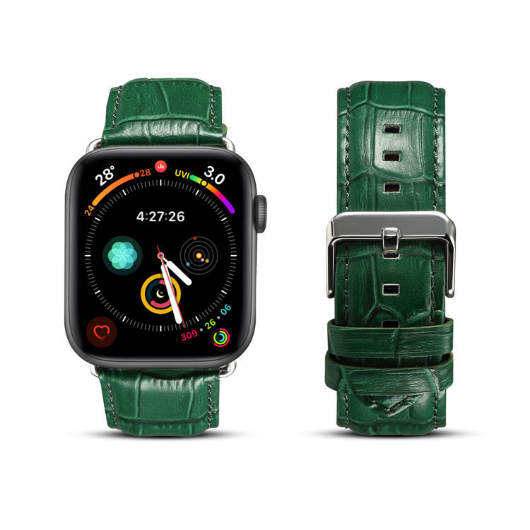 New Style For Apple 38 40 Watch Band Iwatch20 22 Genuine Leather Cowhide Crocodile Pattern 42 44 3 S 4 S