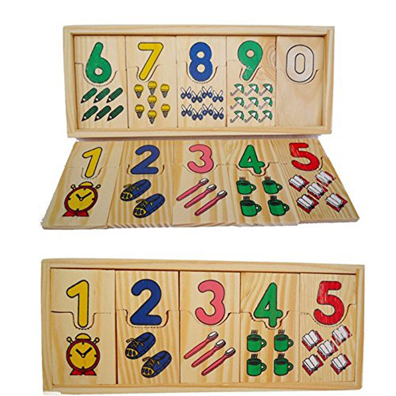 Montessori Educational Wooden Toys Children Math Puzzle Kids Teaching Counting Logarithmic Matching Board Digital Games Gifts