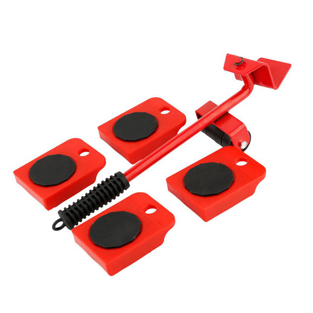 5pcs Furniture Moving Transport Set Lifter Heavy Object Handling Tool Furniture Transport Lifter Household Hand Tool