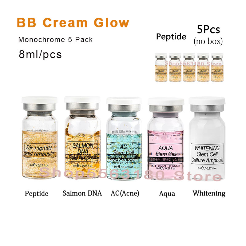 5pcs Stayve BB Cream Glow Natural Microneedling Serum Whitening Concealer Stem Cell Ampoule Brightening Anti-wrinkles Skin Care