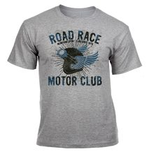New 2019 Cotton Men'S Road Race Vintage Print Motorbike T- Shirt Motorcycle Helmet Wings Gift Sp Short-Sleeve T-Shirt(China)