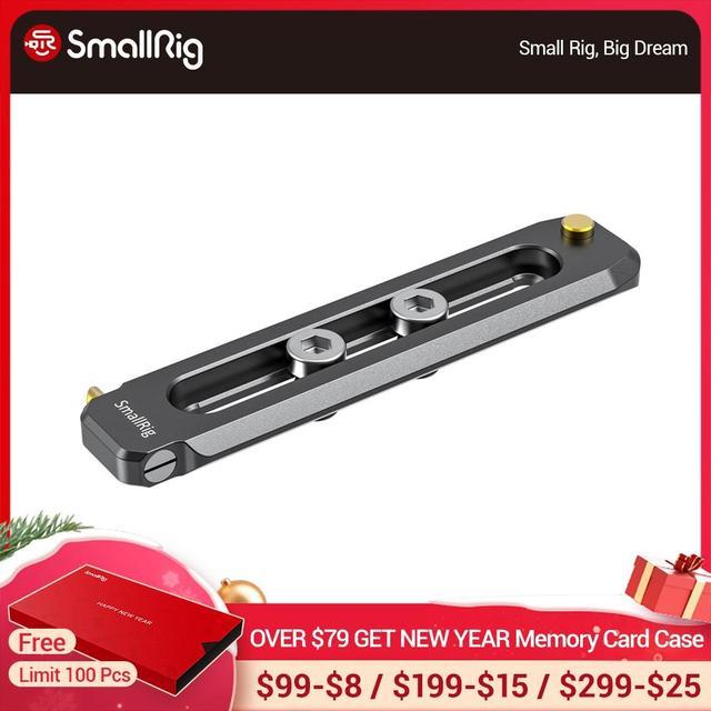 "SmallRig נמוך פרופיל 90mm ארוך נאט""ו רכבת 6mm עבה מהיר שחרור נאט""ו רכבת עם 1/4 "" 20 הרכבה חור עבור נאט""ו מהדק/ידית 2484"