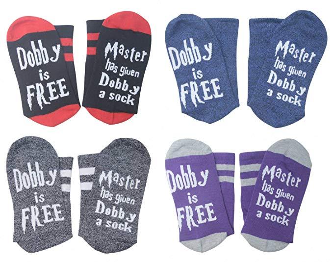 Dropshipping Dobby Socks Harry Cotton Poter Socks Women Men Unisex Novelty Hip Hop Funny Socks Christmas Gift Letter Print Crew