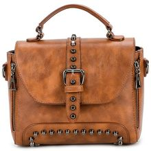 Crossbody Bags For Women Messenger Vintage Leather Handbags Famous Rivet Small Shoulder