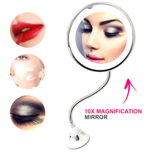 LED Mirror Makeup Mirror with LED Light 360 Degree Rotation 10X Magnifying Folding Vanity Mirror Makeup Tools Dropshipping