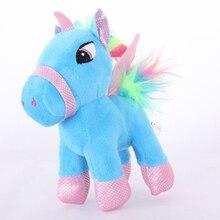 Cute Kawaii Soft Unicorn Doll Plush Toy 15CM Creative Pony Doll Sleeping Cushion Birthday Gift Plush Toy For Kids