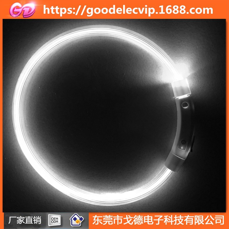 USB Charging Luminous Collar Night Light Dog Neck Ring LED Teddy Golden Retriever Dog Neck Ring All Breeds Applicable