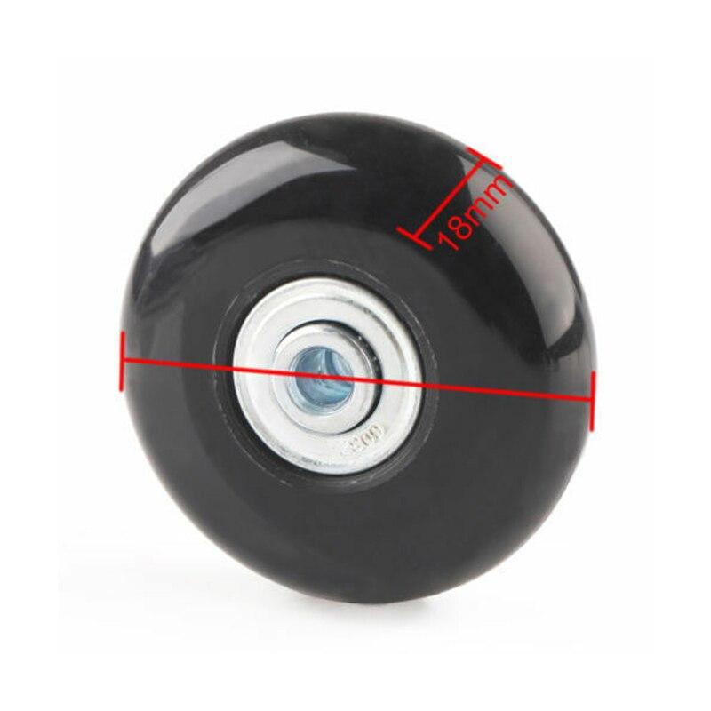 2 pces preto bagagem saco mala substituição rodas de borracha eixos reparação acessórios sem rodízios od 40mm/54mm/60mm/64mm/80mm-3