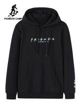 Pioneer Camp Mode Streetwear Hoodies Männer Schwarz Weiß Farbe Baumwolle Kausalen männer Sweatshirt Herbst Neue 2020 AWY901556A