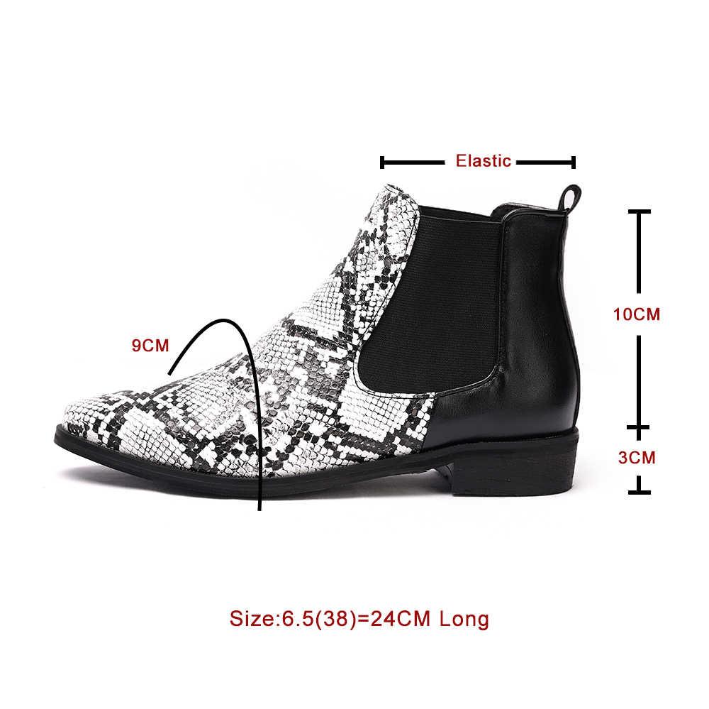 Herfst Winter Warm Vrouwen Enkellaars Vierkante Hoge Hakken Lederen Laarzen Wees Martin Laarzen Casual Pumps Maat 34-44